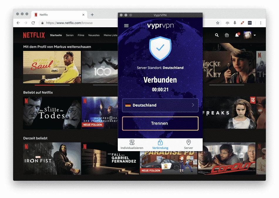 Netflix mit VyprVPN