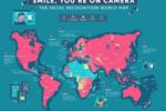 Weltkarte der Gesichtserkennung