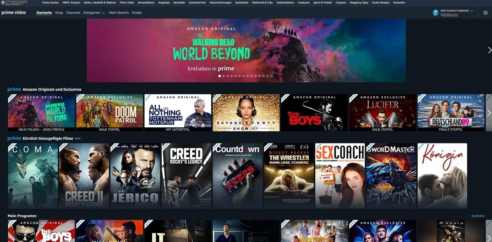Amazon Prime Video Start