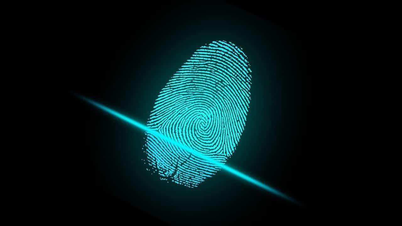 Biometrische Daten Fingerabdruck