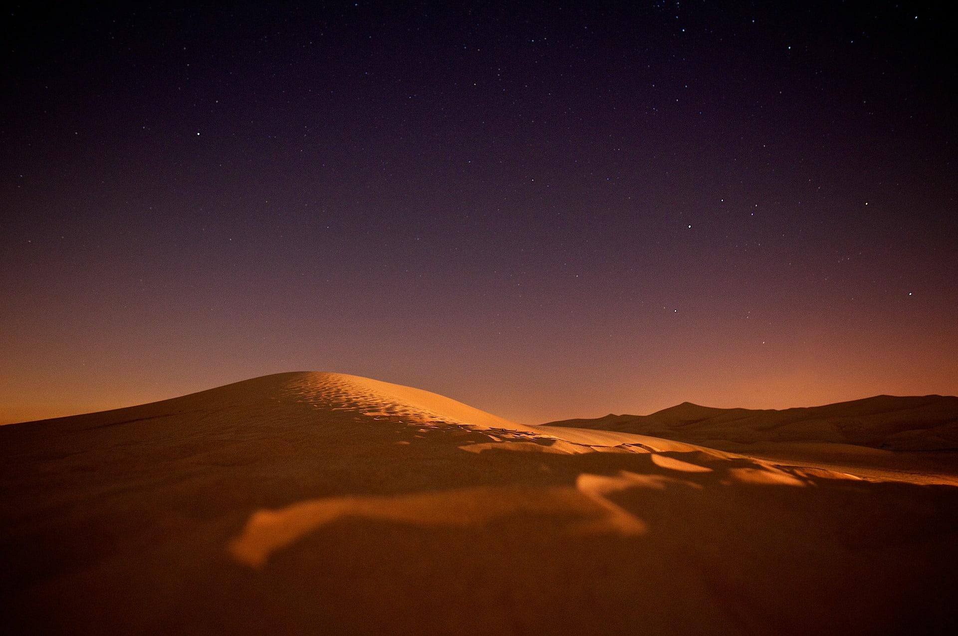 Sahara bei Nacht