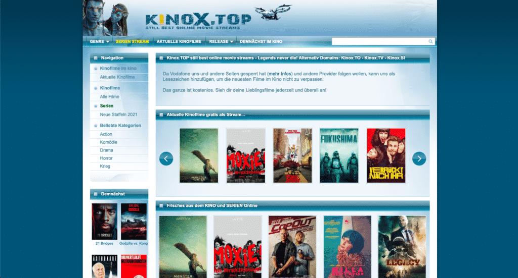 Kinox Webseite